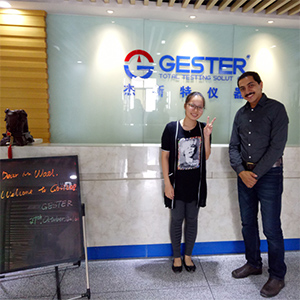 Egypt customer visit to Gester